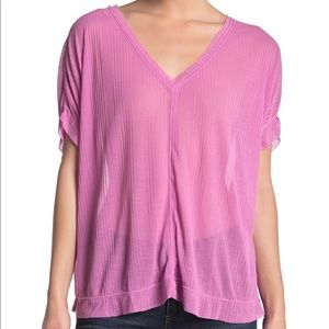 New Free People Tee in Orchid Sz L